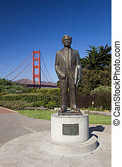 The Golden Gate Bridge w Joseph B. Strauss - The Golden Gate...