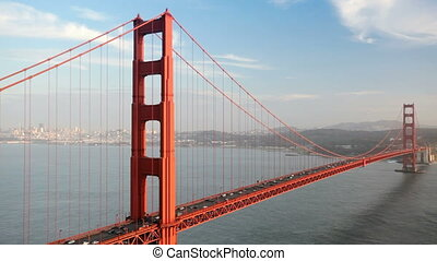 Golden Gate Bridge Traffic - Cars driving over the Golden...