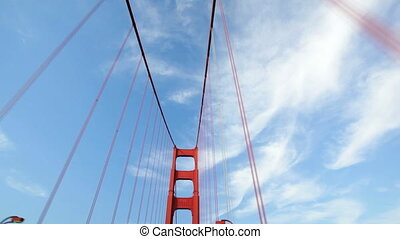 Golden Gate Bridge Drive - Driving over San Francisco's...