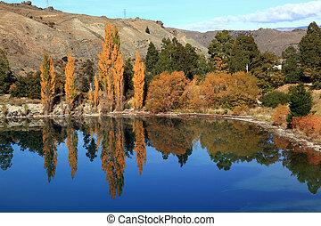 dunstan lake - panorama of dunstan lake reflection in New...