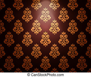 Vintage ornament background. Vector