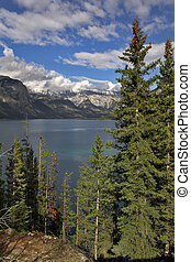 Fantastic lake - Fine emerald lake in an environment of...