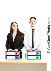 Equal - photo of business people as conceptual equal...
