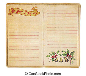 Vintage Christmas List Booklet - An aging Christmas wish...