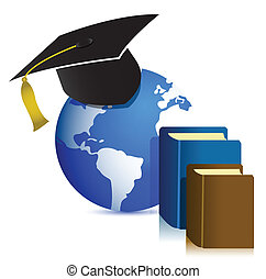 Global Education concept design illustration on white