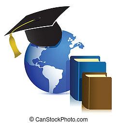 Global Education concept design illustration on white