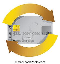 credit card constant consumerism concept illustration design
