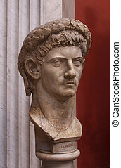 Bust of Claudius - A bust of the Roman Emperor Claudius as...