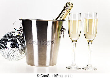 Champagne party - Champagne,New Year's, Celebration