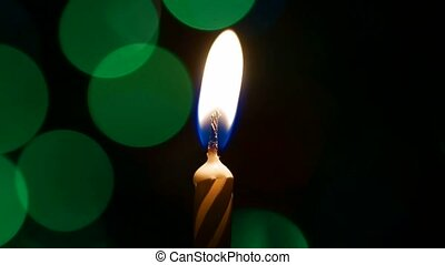 Candle light with colored bokeh