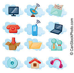 Vector Icons for Cloud network