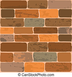 Vector illustration of a brick wall
