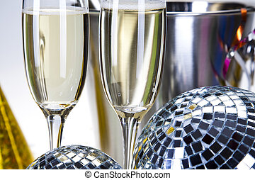 Champagne,New Year's, Celebration