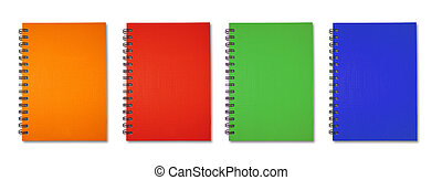 Orange red green blue Note Book