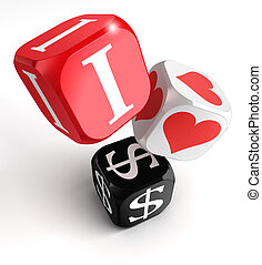i love dollars 3d colorful box tower