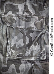 Military back pocket as background
