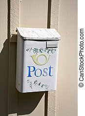 Postbox in Sweden in the province of Skne