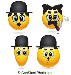 Smileys - Four smiling balls like actor