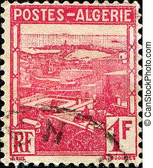 Algeria - ALGERIA - CIRCA 1941: A stamp printed in Algeria...