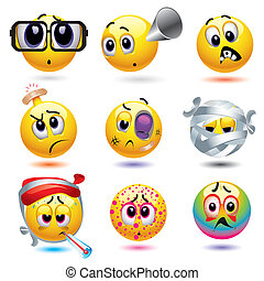 Smileys - Smiley balls with different diseases