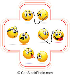 Smileys - Smiley ball treating another smiley ball