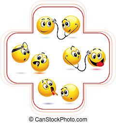 Smileys - Smiley ball treating another smiley ball