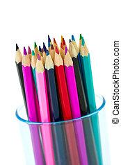 Pensils - Closeup of many color pencils