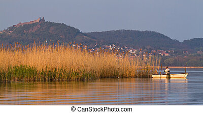 Landscape - Beautiful waterfront landscape in Hungary