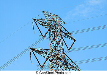 Power lines in high voltage