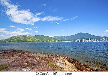 Sea coast landscape in Hong Kong