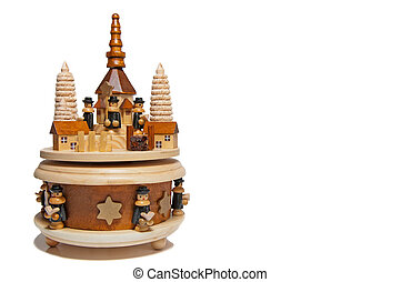 Christmas pyramid - Wooden christmas pyramid with a circle...