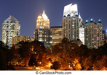 Midtown Atlanta Cityscape - Midtown viewed from Piedmont...