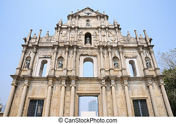 Ancient church - Saint Paul church in Macau