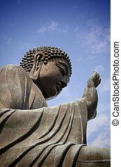 Big Buddha - A big buddha statue at Lin Po temple, Hong Kong