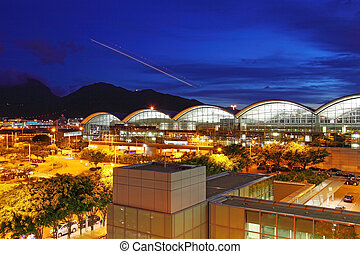 Modern architecture of airport exterior