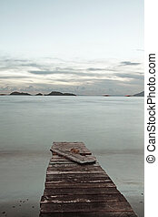 Isolated pier in low saturation style
