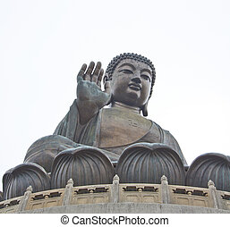 The Big Buddha in Hong Kong Lantau Island
