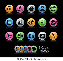 Business & Finance / Gelcolor - The EPS file includes 5...