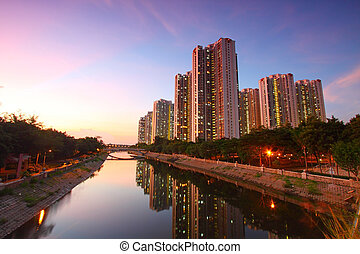 Tin Shui Wai district, Hong Kong. - Tin Shui Wai district at...