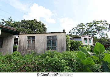 Houses in countryside of Hong Kong