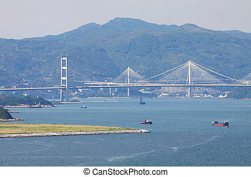 Tsing Ma Bridge at day time