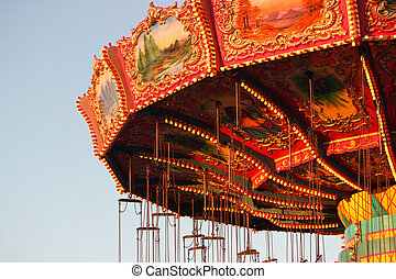 Amusement Park - Carnival ride at amusement park