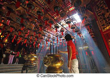 Man Mo temple in Hong Kong - HONG KONG - 26 Jul, Man Mo...