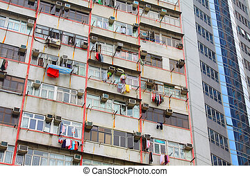 Packed Hong Kong housing