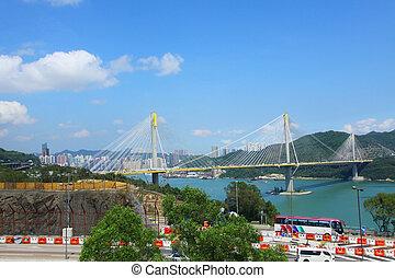 Ting Kau Bridge at day time