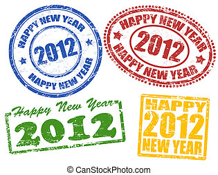 2012 new year stamps