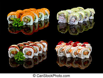 sushi - california roll sushi set