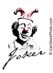 Joker - old funny clown in retro design look