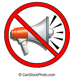 Quiet symbol representing the prohibition of no loud sounds...