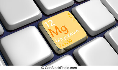 Keyboard detail with Magnesium element - 3d made
